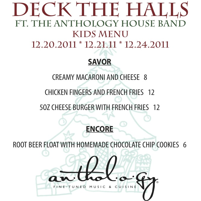 Deck The Halls Kids Menu